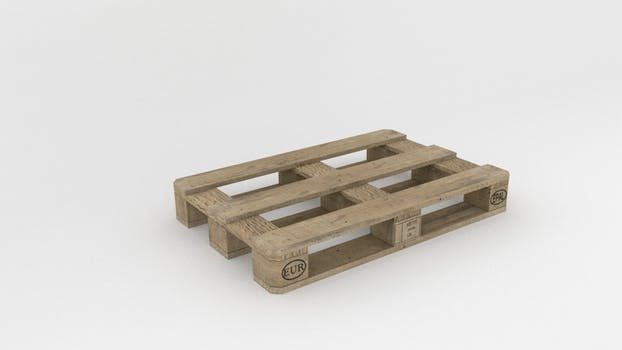 pallet that can be lifted by pallet trolleys